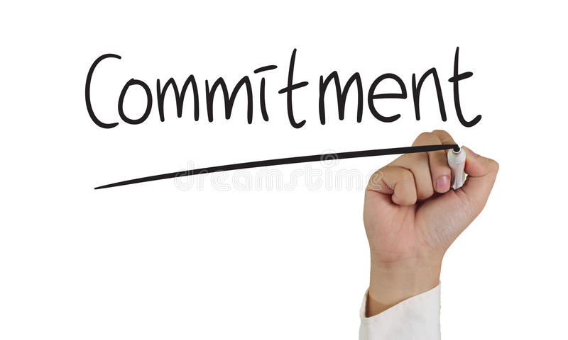 Commitment Concept stock images