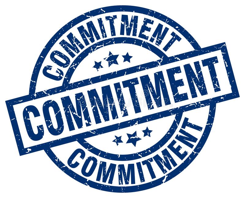commitment stamp vector illustration