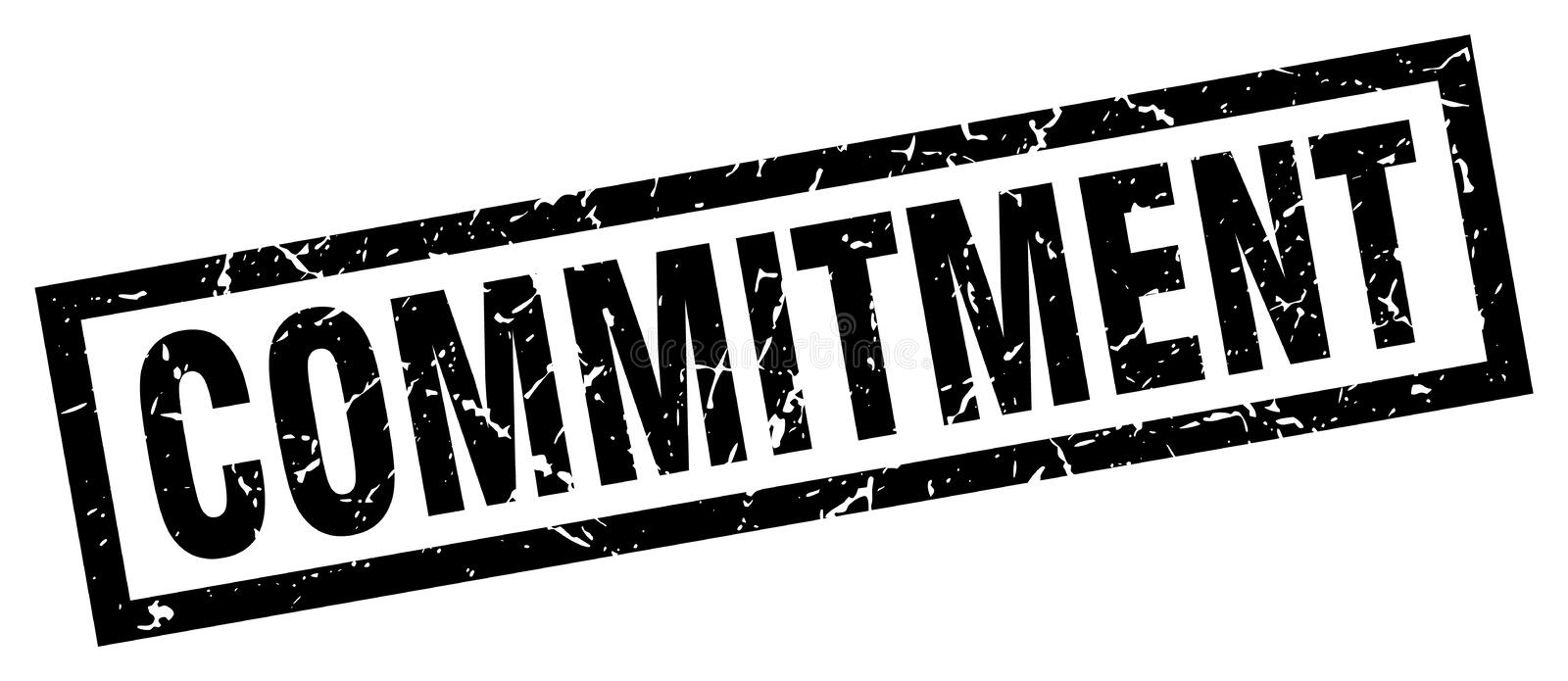 commitment stamp stock illustration