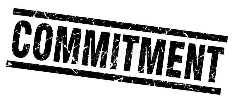 commitment stamp vector illustration
