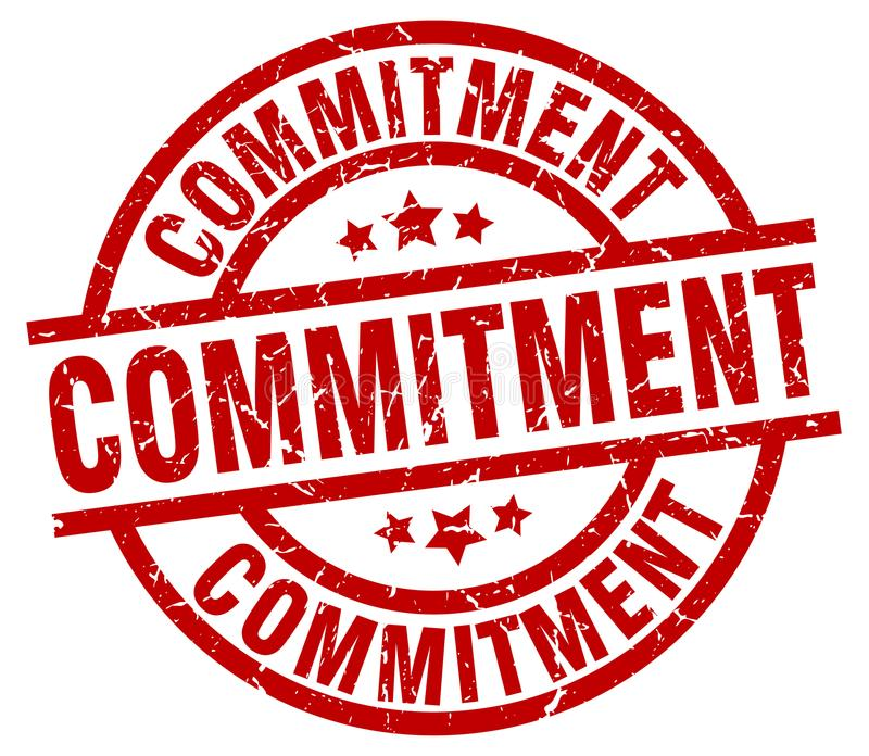 commitment stamp royalty free illustration
