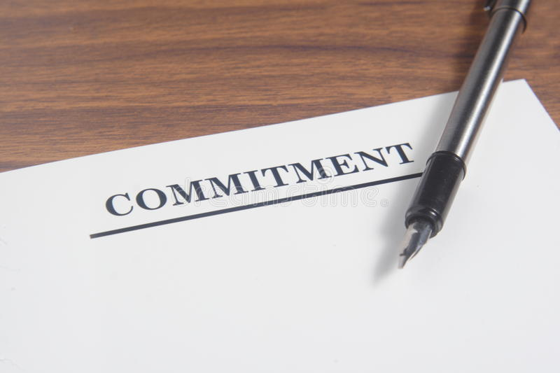 Commitment Letter Royalty Free Stock Photo - Image: 37987935