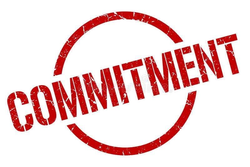commitment stamp stock illustration