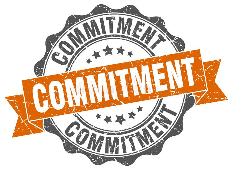 commitment seal. stamp vector illustration