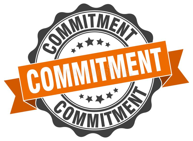 commitment seal. stamp stock illustration