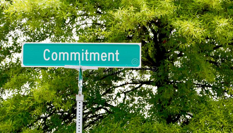Commitment Street Sign royalty free stock photo
