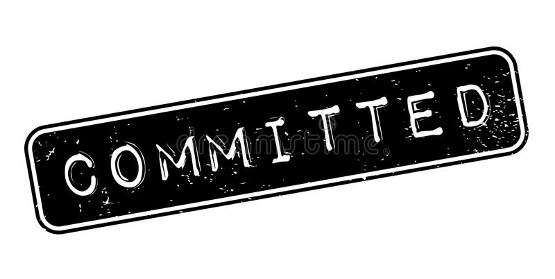 Committed rubber stamp. Grunge design with dust scratches. Effects can be easily removed for a clean, crisp look. Color is easily changed vector illustration