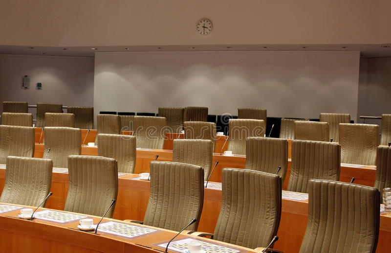 Download Committee meeting room stock image. Image of chairs, leather - 10976985
