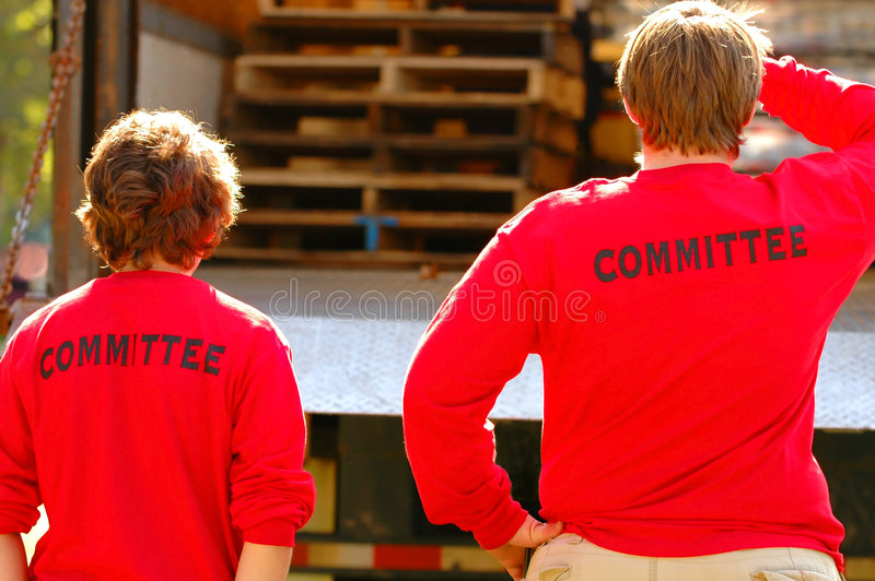 Committee Members in Action. Committee members planning next steps royalty free stock photos
