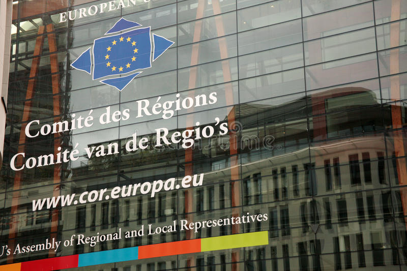 Committee of the Regions. European Institutions: Committee of the Regions headquarters in Brussels stock image