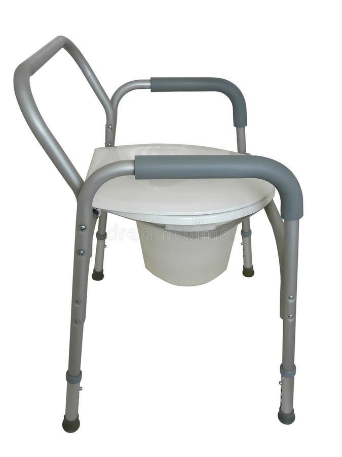 Commode da cabeceira, cadeira de chuveiro fotografia de stock