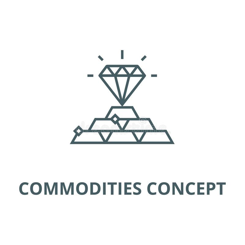 Commodities concept line icon, vector. Commodities concept outline sign, concept symbol, flat illustration vector illustration