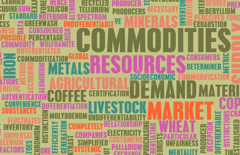 Commodities Trading royalty free illustration