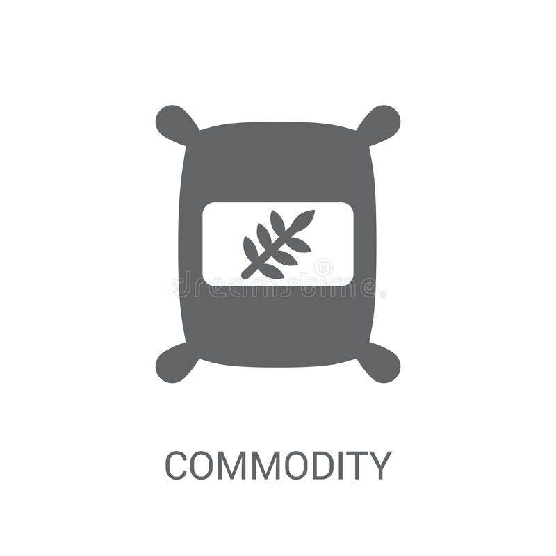 Commodity icon. Trendy Commodity logo concept on white background from business collection royalty free illustration