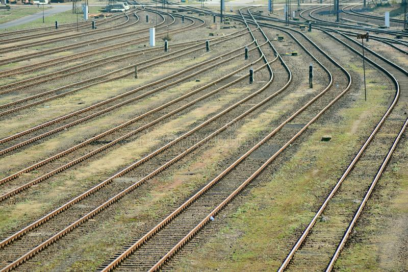 Commodity Railway station Warsaw Torunska. Warsaw, Poland. 5 April 2019. Commodity Railway station Warsaw Torunska stock photos