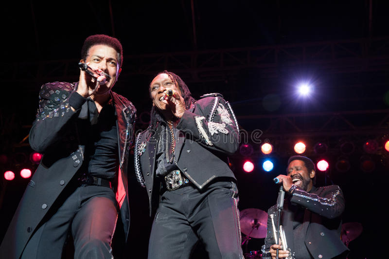 The Commodores. CITRUS HEIGHTS, CA – September 8: The Commodores perform at Sunrise Marketplace in Citrus Heights, California on September 8th, 2012 stock photography