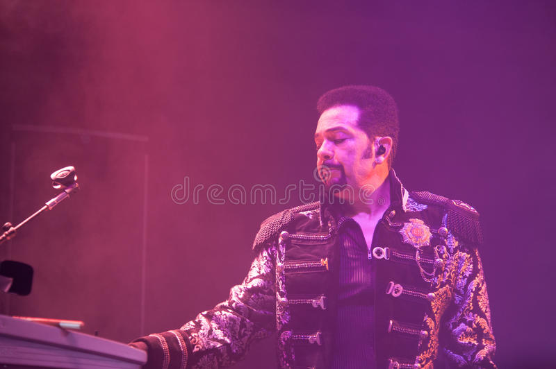 The Commodores. LINCOLN, CA – February 14: J.D. Nicholas of The Commodores perform at Thunder Valley Casino Resort in Lincoln, California on February 14 stock photos