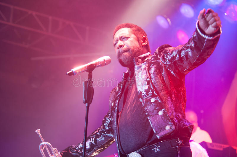 The Commodores. LINCOLN, CA – February 14: William King of The Commodores perform at Thunder Valley Casino Resort in Lincoln, California on February 14 stock image