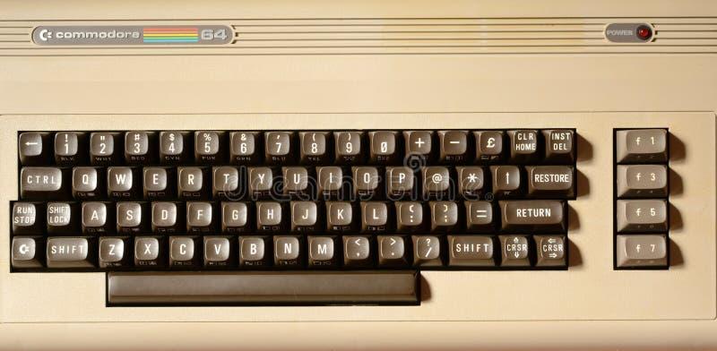 Commodoro 64 del computer immagine stock libera da diritti