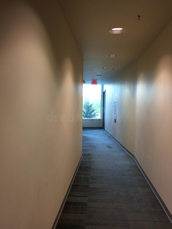 Common area hall way commercial building stock images
