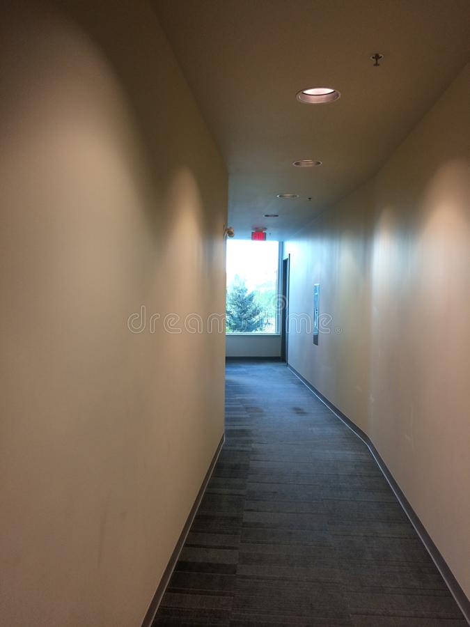 Common area hall way commercial building stock photos