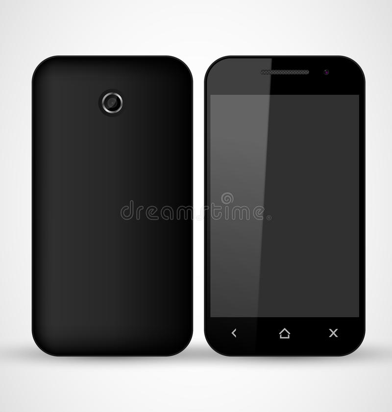 Download Common Black SmartPhone stock vector. Image of communication - 29781128