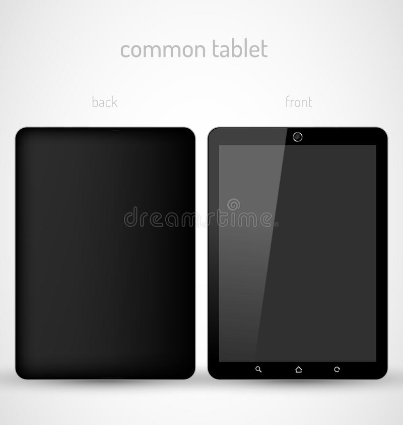 Download Common Black tablet stock vector. Image of laptop, blank - 29781133