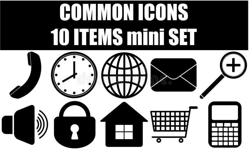 Common icons vector illustration
