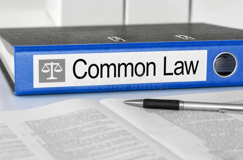 Common Law. Blue folder with the label Common Law royalty free stock photography