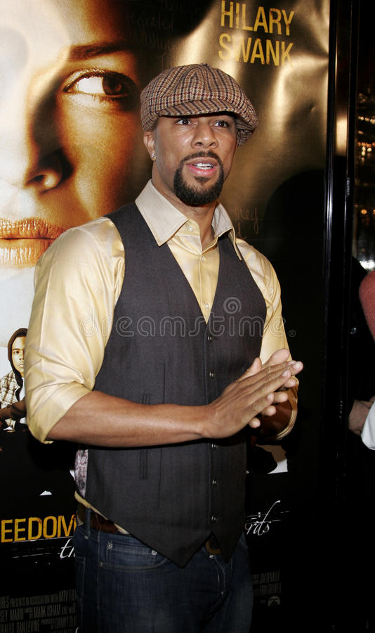 Common. At the Los Angeles premiere of `Freedom Writers` held at the Mann Village Theatre in Westwood, USA on January 4, 2007 royalty free stock images