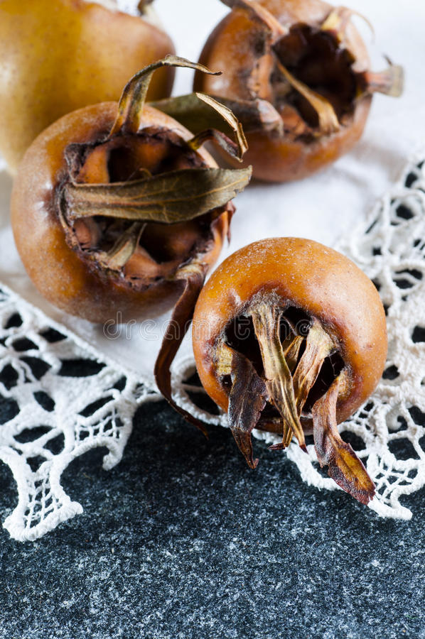 Common medlar fruit stock image