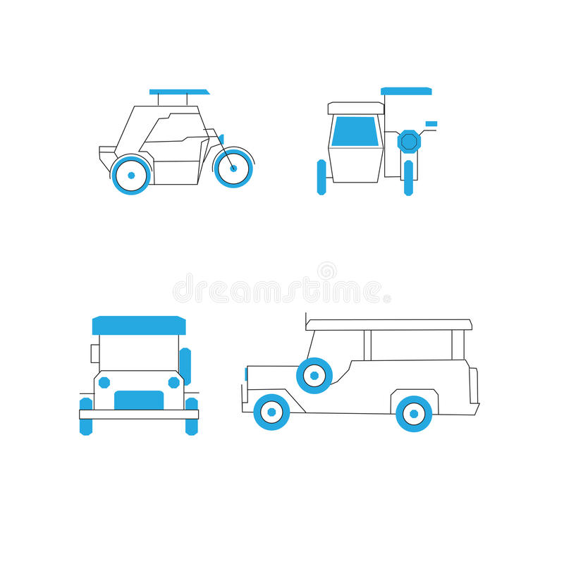 Common Public Transportation in the Philippines royalty free illustration