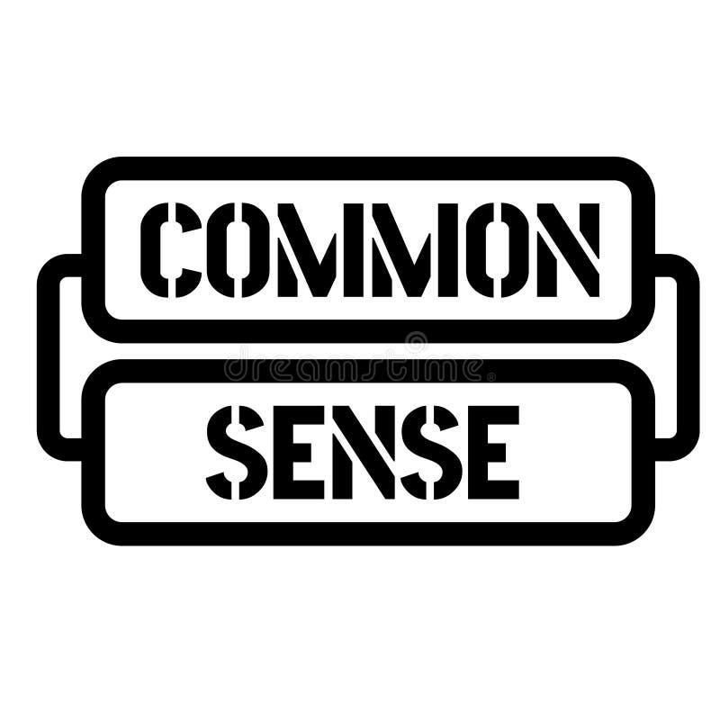Common sense stamp stock illustration