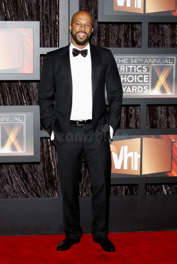 14th Annual Critics` Choice Awards. Common at the 14th Annual Critics` Choice Awards held at the Santa Monica Civic Center in Santa Monica on January 8, 2009 royalty free stock photos