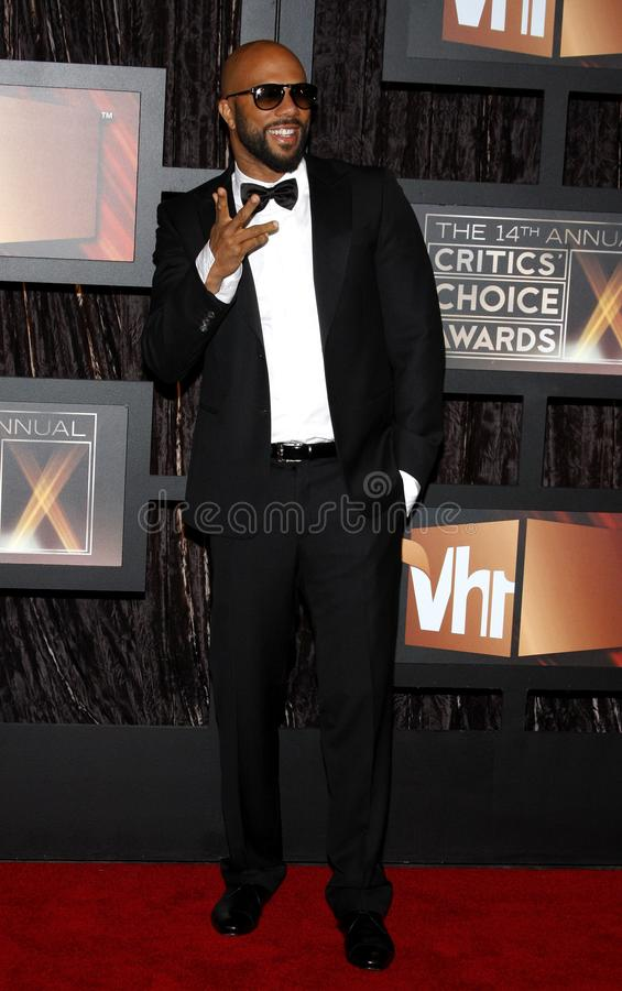 14th Annual Critics` Choice Awards. Common at the 14th Annual Critics` Choice Awards held at the Santa Monica Civic Center in Santa Monica on January 8, 2009 stock image