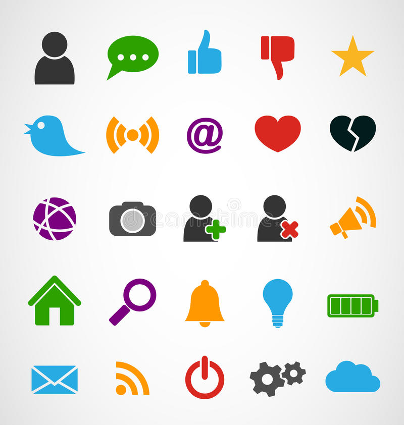 Common Web Icons royalty free illustration