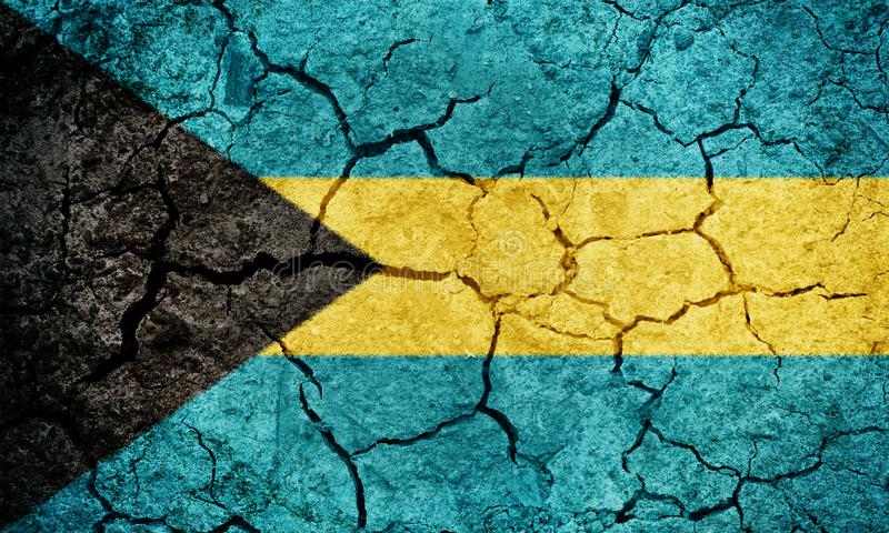 Commonwealth of the Bahamas flagga stock illustrationer