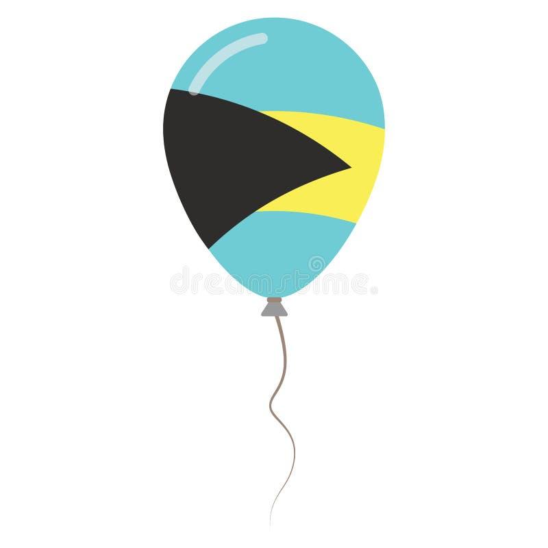 Commonwealth of the Bahamas medborgarefärger stock illustrationer