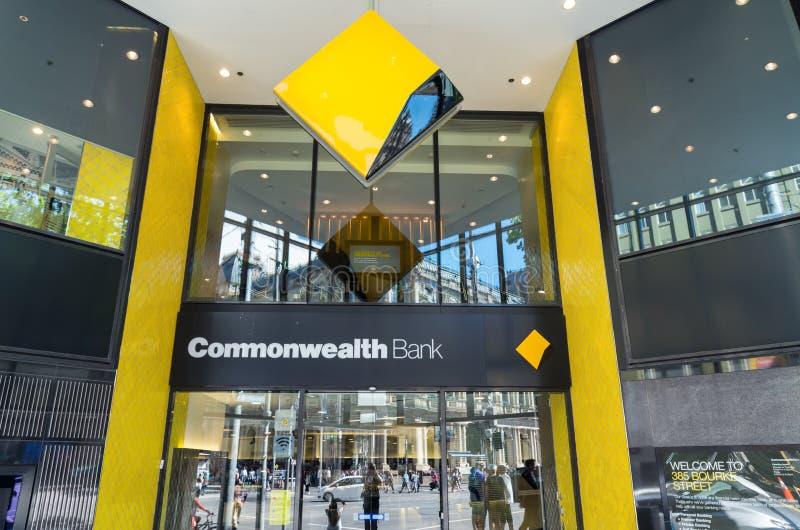 Commonwealth Bank rozgałęzia się w Melbourne obraz royalty free
