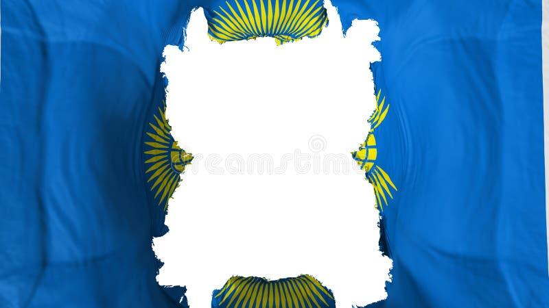 Commonwealth déchiré des nations battant pavillon illustration stock
