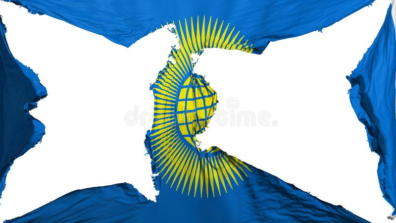 Commonwealth détruit de drapeau de nations illustration stock