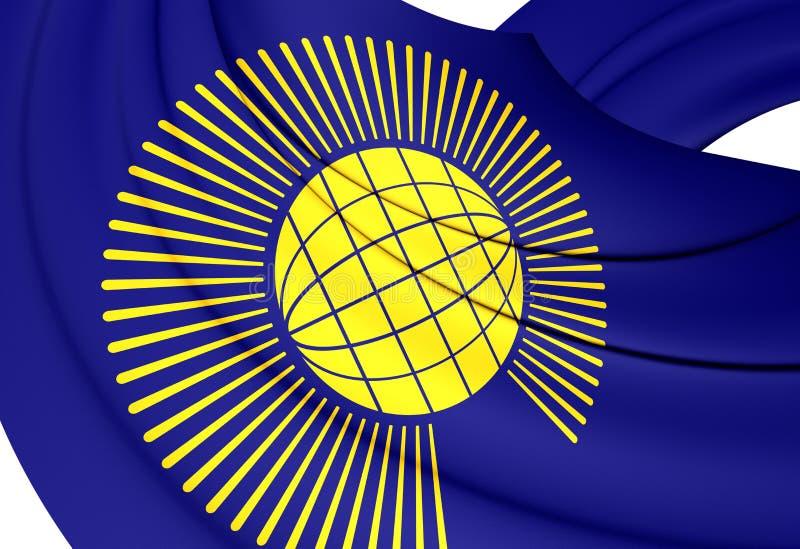 Commonwealth de drapeau de nations illustration de vecteur