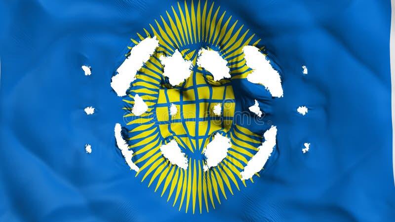 Commonwealth de drapeau de nations avec petits trous illustration libre de droits