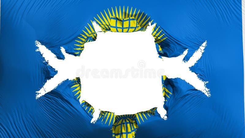 Commonwealth de drapeau de nations avec un grand trou illustration stock