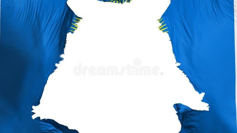 Commonwealth de drapeau de nations déchiré à part illustration stock