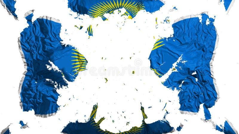 Commonwealth dispersé de drapeau de nations illustration de vecteur