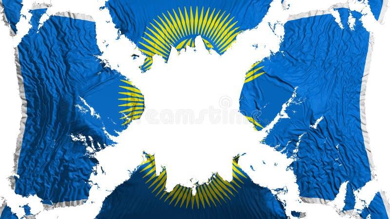 Commonwealth du drapeau déchiré par nations flottant dans le vent illustration stock