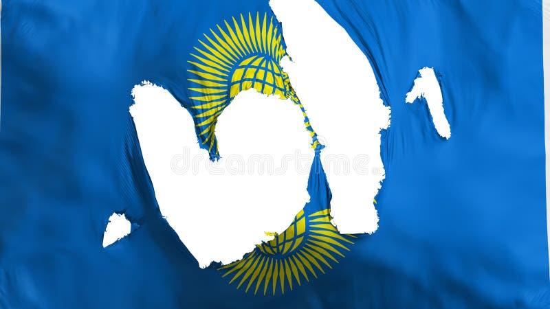 Commonwealth en lambeaux de drapeau de nations illustration de vecteur