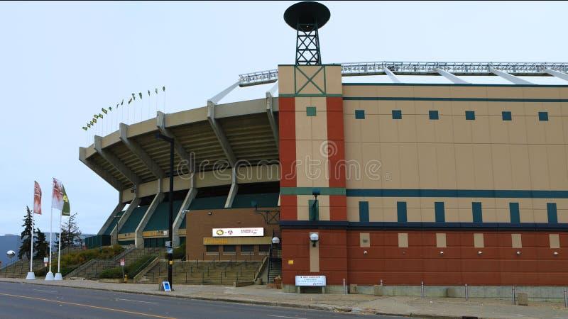 Commonwealth Stadium, home to CFL Edmonton Eskimos. The Commonwealth Stadium, home to CFL Edmonton Eskimos royalty free stock image