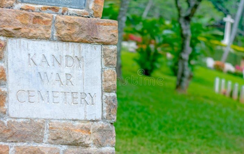 Commonwealth war cemetery In Sri Lanka. KANDY, SRI LANKA –AUGUST 14: Commonwealth war cemetery on August 14 2017 in Kandy, Sri Lanka. It is a British stock photography